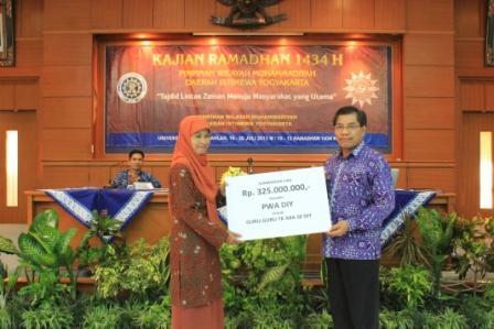 UAD Sumbang 345 Juta Rupiah untuk Guru TK dan SMP Muhammadiyah 2 Bambanglipuro Bantul