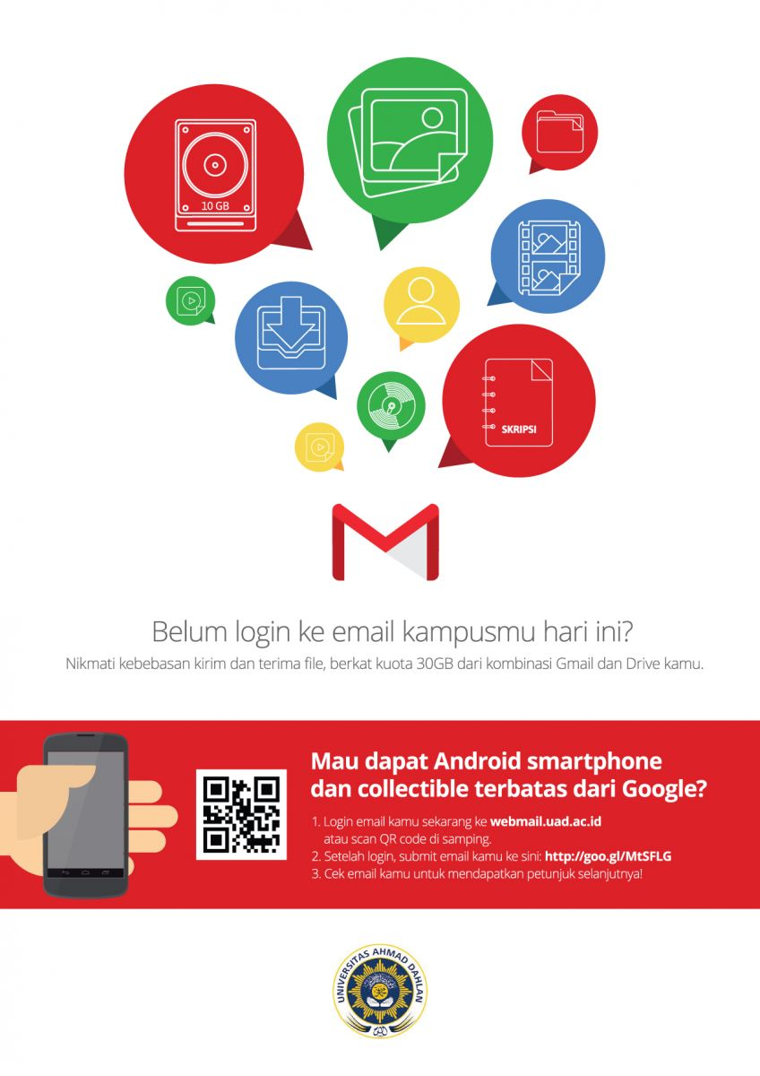 Promo gratis Smartphone Android bagi pengguna webmail.uad.ac.id